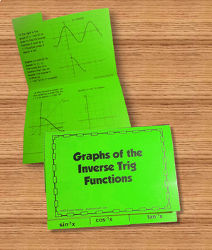 Graphs of the Inverse Trigonometric Functions for PreCalculus and Trigonometry