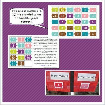 """""""Graphing the Letters in Your Name"""" Printables for Kindergarten and Preschool"""