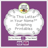 """Graphing the Letters in Your Name"" Printables for Kindergarten and Preschool"
