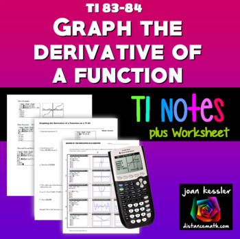 Calculus Graphing the Derivative of a Function on a TI 83  Graphing Calculator