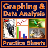 Graphing Bundle:  Learn Graphing & Data Analysis - Independent Work Packet