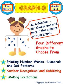 Kindergarten Math: Graphing and Early Numeracy Domino Game For Kids