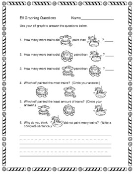 Graphing with Elves  --  A Fun Christmas Freebie!
