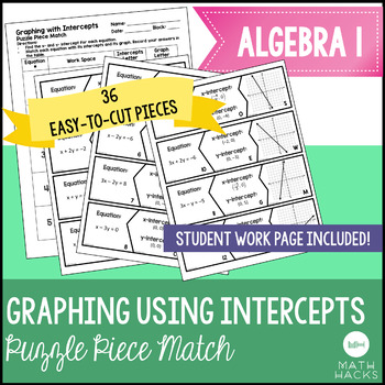 Graphing Using Intercepts Puzzle Piece Activity