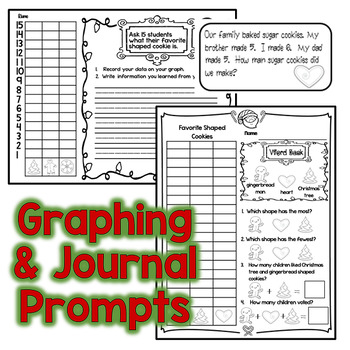 Christmas Math: Graphing, Word Problems, Equal Parts