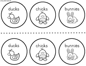 Easter Graphing with Sweetarts ducks, chicks, and bunnies. K-2
