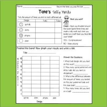Graphing with Tally Marks Math Center