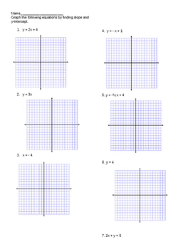Graphing y=mx+b