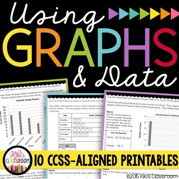 Graphs 3rd Grade - Bar Graphs & Data Printables