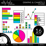 Graphs & Charts 2 Clipart {A Hughes Design}