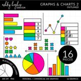 Graphs & Charts 2 Clipart {A Hughes Design}