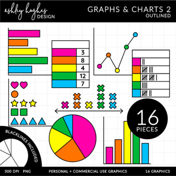 Graphs & Charts 2 Clipart {A Hughes Design} by Ashley ...