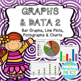 Graphs & Data PART 2- Bar Graphs, Line Plots, Pictographs