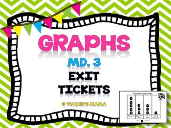 Graphs Exit Tickets 3rd Grade