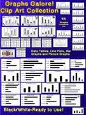 Graphs Galore! Clip Art - Line Plot, Bar Graph, Data Table, Picture Graph