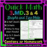 Graphs Homework or Graphs Math Centers for 3rd Grade: 3.MD.3 and 3.MD.4-Distance