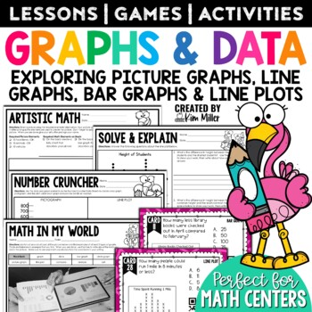 Graphing & Line Plots Math Test Prep Task Cards