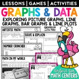 Graphing, Line Plots, Pictographs Math Activities   Review, Centers & Test Prep