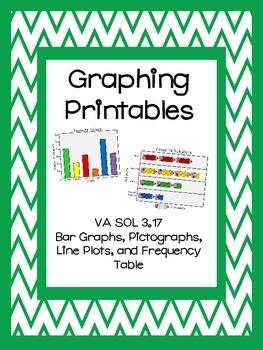 Graphing No Prep Printables - Interpret Data, Create Graphs, Write Questions