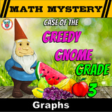 Graphs Review Math Mystery (Bars Graphs, Pictographs, Line Graphs, Tally Graphs)