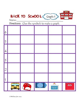Graphing, Tally Charts and Problem Solving Back to School Theme