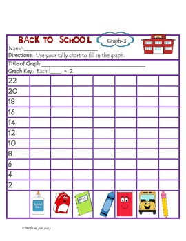 Back to School Graphs, Tally Charts and Problem Solving