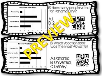 Graphs Task Cards QR