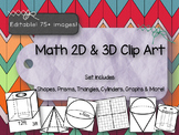 Clip Art Shapes -2D & 3D Prisms, Graphs, Cylinders and more! PPT File