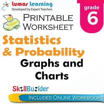 Graphs and Charts Printable Worksheet, Grade 6