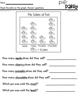 Graphs and Data Practice Pages First Grade