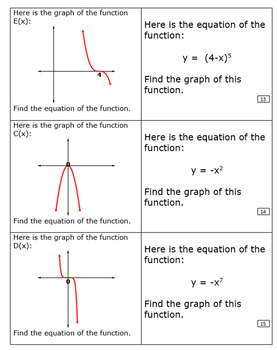 Graphs and Factored Equations - Stand up Pair up or Concentration - Editable