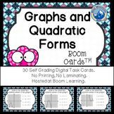 Graphs and Forms of Quadratic Equations--Digital Task Cards