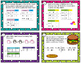 Graphs and T-Charts word problems - TEK 1.8a-c CC MD4 - with or w/o QR codes