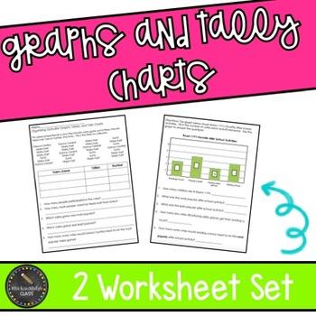 Graphs and Tally Charts Worksheet Set