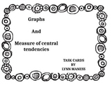 Graphs and central tendency task cards STAAR review