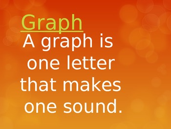 Graphs, blends, digraphs, trigraphs powerpoint warm- up