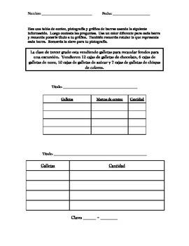 Graphs lesson and activity / leccion y practica con graficas
