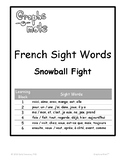 Graphs-o-Mots: French Phonics Intervention - Sight Words - Snowball Fight Game