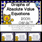Graphs of Absolute Value Equations Boom Cards--Digital Task Cards