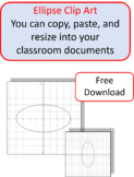 Clip Art Graphs of Ellipses for Cutting, Pasting, and Resi