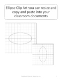 Clip Art Graphs of Ellipses for Cutting, Pasting, and Resizing into Documents
