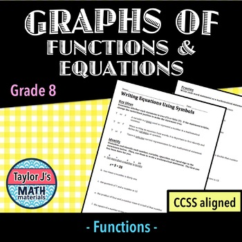 Graphs of Functions and Equations Worksheet