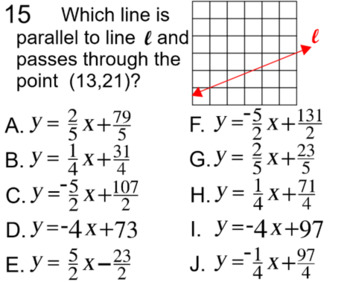 Graphs of Linear Equations, 4 Assignments on PDF and Socrative