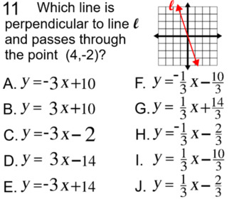 Graphs of Linear Equations, 4 Assignments on Power Point and Socrative