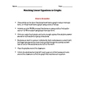 Graphs of Linear Equations Matching Activity