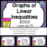 Graphs of Linear Inequalities Boom Cards--Digital Task Cards