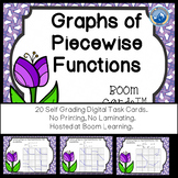 Graphs of Piecewise Functions Boom Cards--Digital Task Cards