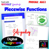 Graphing Piecewise Functions Self Grading with Google Form