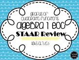 Algebra I STAAR Review: Graphs of Quadratic Equations