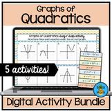 Graphs of Quadratics Digital Activity Bundle (4 Activities)